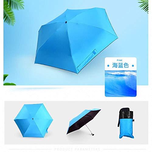 YQE Tragbarer Herrenschirm Mini Capsule Pocket UV-Schutz RegenfaltbareKompaktschirme, wie Gezeigt