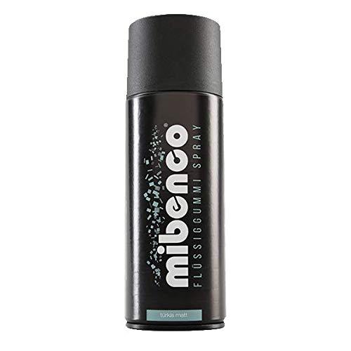 mibenco 71426034 Flüssiggummi Spray / Sprühfolie, Türkis Matt, 400 ml - Neue Farbe und Schutz für Oberflächen und zum Felgen lackieren