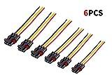 Lesiyou 6 Pieces Pulse Power Plug Connector General Bus Bar Power Harness Pigtail Connector for 2018-2020 Polaris Ranger XP 1000 & RS1, 14 Gauge