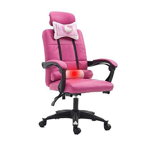 Gamer Stuhl Gaming, Heben von Rotation Multifunktions-Computerstuhl mit Kopfstütze und Lendenmassage-Unterstützung Gartenstuhl
