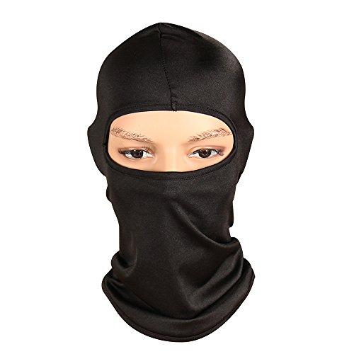 ThreeH Máscara de Cara Completa Ligera Balaclava Spandex a Prueba de Viento Cubierta de la Cara FM04,Black