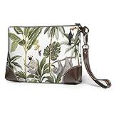 Yushg Weiche wasserdichte Armband Brieftasche für Mädchen Tropische Vintage Tiere Tukan Palmen...