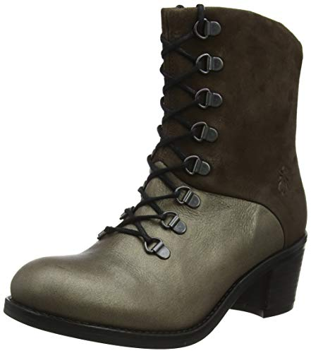 Fly London Damen Zane500fly Kurzschaft Stiefel, Grau (Grey 004), 40 EU