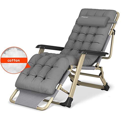 Fauteuil de détente Pliant, Fauteuil de Relaxation, chaises Longues, Coussin en Coton, Jardin inclinable et orientable, chaises de Jardin, terrasse extérieure, pouvant Charger jusqu'à 300 kg