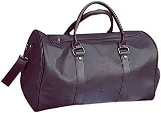 TOOGOO Fitness Training Sport Gym Bag Mens Weekend Overnight Luggage Women Totes Large Leather Handbags Shoes Storage Pockets Black