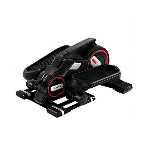 TQJ Maquina de Pedales Sentada Bluetooth Mini Ejercicio cruz entrenador con App, la bicicleta estática elíptica paso a paso for el Ejercicio de la Oficina en el hogar, lugar de trabajo del pedal Salud