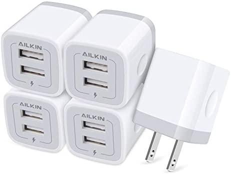 【5Pcs】 USB Plug, Wall Charger Fast Charging...