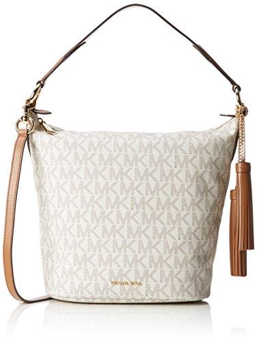 MICHAEL Michael Kors Women's Elana Large Convertible Shoulder Vanilla Handbag