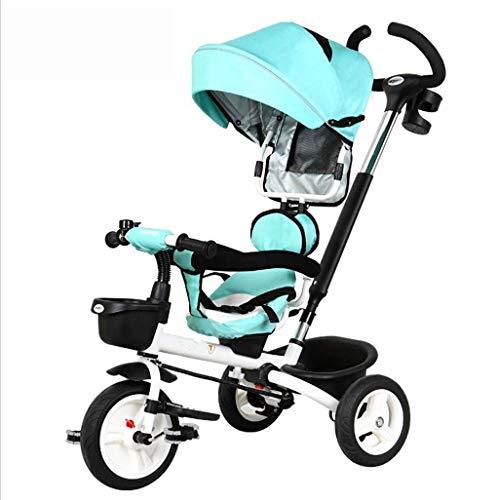 For Sale! LQRYJDZ Baby Stroller,Baby Carriage Pushchairs Trolley Baby Trolley Folding Children's Tri...