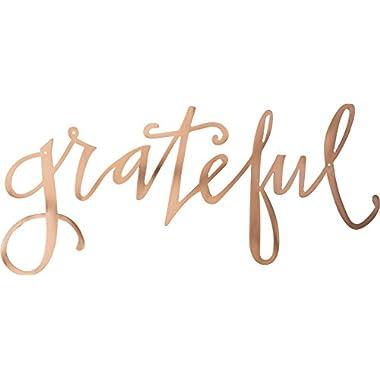Primitives by Kathy Grateful Cut Out Copper Metal Sign.