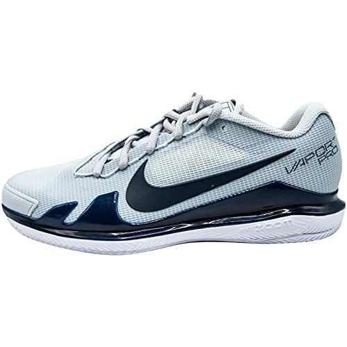 Nike Herren NIKECOURT AIR Zoom Vapor PRO Tennisschuh, Pure Platinum/Obsidian-White, 43 EU