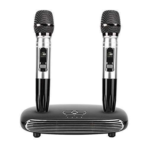 Socobeta Teléfono móvil TV Bluetooth Inalámbrico Micrófono Micrófono Fib Óptico para Karaoke Bodas Habla Pública (regulación británica)