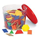 Learning Resources Plastic Pattern Blocks, Homeschool, Shape Recognition, Early Math Skills, Set of 250, Ages 4+