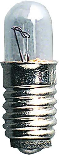 Ersatzbirnchen für Niedervolt Fenster- leuchter, E5, 0,6W/ 12V, 0,82 LM,5 Stück auf Karte