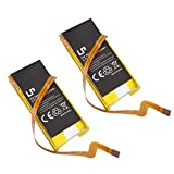 Battery for Apple iPod Video/Classic 5th Generation 30GB, LP 2-Pack 900mAh Replacement Battery for iPod G5 Compatible with 616-0227, 616-0229, 616-0230, 616-0392, 616-0412, EC008, EC008-1, EC008-2