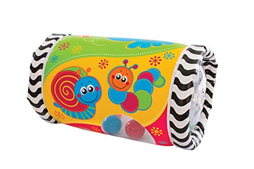 Playgro Krabbelrolle mit Musik, Aufblasbar, Ab 6 Monate, Tumble Jungle Peek in Roller, Bunt, 40154