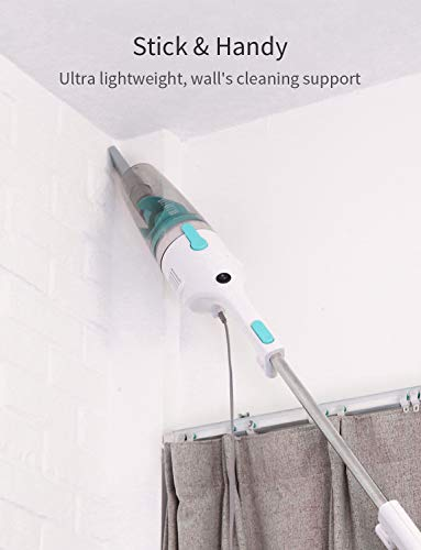 iTvanila Vacuum Cleaner, Stick Vacuum Cleaner with 15KPa Cyclonic Suction and 19.6 ft. Power Cord, Lightweight Handheld Vacuum for Pet Hair Hard Floor, White