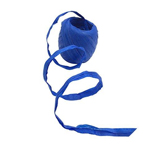 Bonarty 20 M Papier Bastband Geschenkband Deko Papierband Basteln Papierschnur - Königsblau
