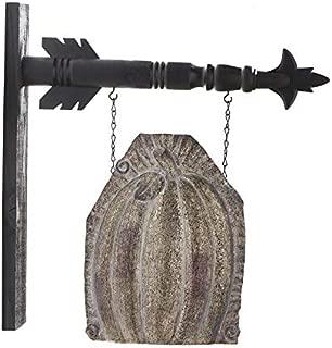 K&K Interiors Arrow Replacement Decorative Hanging Sign, Brown