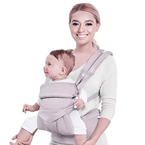 Baby CarrierFront and Back 4 in 1 Infant Carrier Toddler Carrier with Hood Grey