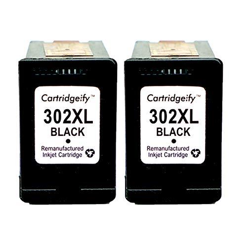 Cartridgeify 302XL Druckerpatronen Kompatibel mit HP 302 302XL (2X Schwarz), für HP Officejet 3830 3831 4650, Deskjet 1110 2130 2132 3630 3632 3637, Envy 4520 4524 4527