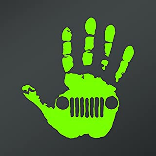 CMI NI757LG Wave Right Hand Decal Sticker | 5.5-Inches Wide | Premium Quality Lime Green Vinyl Decal