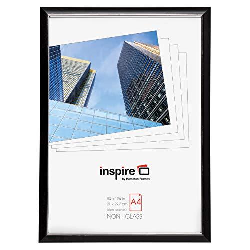 Hampton Frames easyloader schwarz a4 21x30 cm Zertifikat Fotorahmen Sicherheit plexi Glas Bilderblende easa4bkp