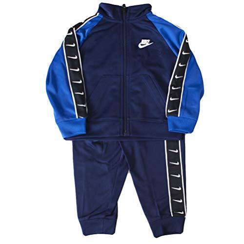 Nike Tuta da Neonato Swoosh Tape Tricot Blu 66G343-U90 (18 M)