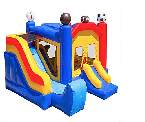 XMEIFEI PARTS CLORURO DE POLIVINILO Bounce Inflable con el Castillo Hinchable Inflable del Combo de la Diapositiva para Las Ventas de la Diapositiva Inflable by (Color : 6x5x5m)
