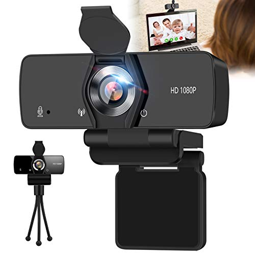 Webcam with Microphone,IPXOZO 1080P Webcam USB Web Camera for Desktop & Computer Web Cam HD Video Camera with Tripod & Privacy Cover,Laptop Desktop PC Camera for Video Conference Streaming Recording