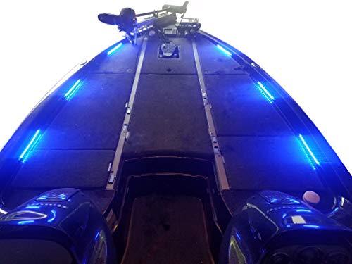 Fishing Vault Boat Deck Lighting Kit with 6 Premium Waterproof LED Light Strips (Blue)