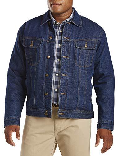 Wrangler Men's Sherpa Lined Denim Jacket, Denim, M