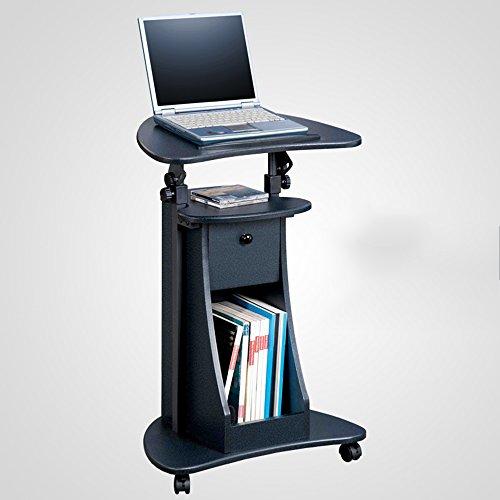 CDXZRZYH Ordenador portátil Escritorio de pie Escritorio de la computadora Escritorio Flotante Ajustable móvil con Notebook de Almacenamiento Mesa de Noche (Color : B)