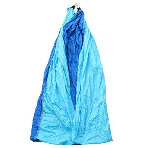 Doitool Hamaca de Camping Hamaca Portátil Tela de Paracaídas Columpio de Jardín Silla Colgante con Cuerda Gancho Colgante Bolsa de Almacenamiento 270X140cm Azul