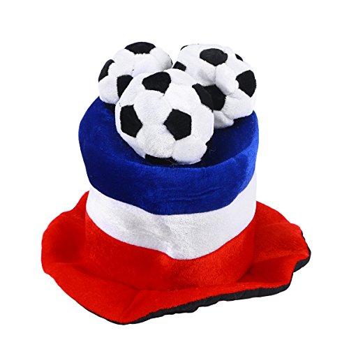 Chapéu de futebol americano LUOEM Chapéu de festa Chapéu de cabeça Fãs de torcida Campeão Mundial Jogo de Futebol Celebração Chapéu (França Coreia)