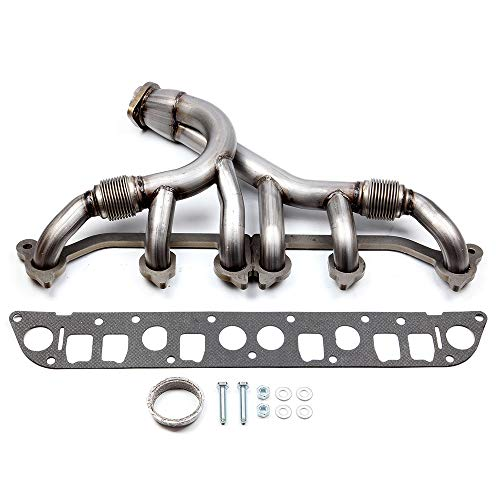 cciyu Stainless Steel Exhaust Manifold Kit Fits 1991-1999 for Jeep Cherokee 1991-1992 for Jeep Comanche 1993-1998 for Jeep Grand Cherokee 1997-1999 for Jeep TJ 1991-1995 1997-1999 for Jeep Wrangler