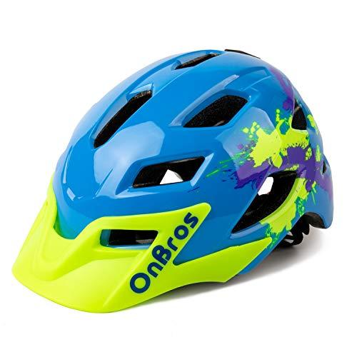 child bike helmets OnBros Kids Bike Helmet, Lightweight Cycling Helmet for Children, Size Adjustable Bicycle Helmets for Boys and Girls Age 5-13, 50-57cm