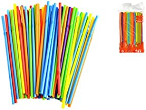 Home 0 6 Plastic Straws Multi Color