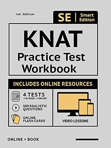 KNAT Practice Test Workbook: Study Manual with 100 Video Lessons, 4 Full Length Practice Tests Book