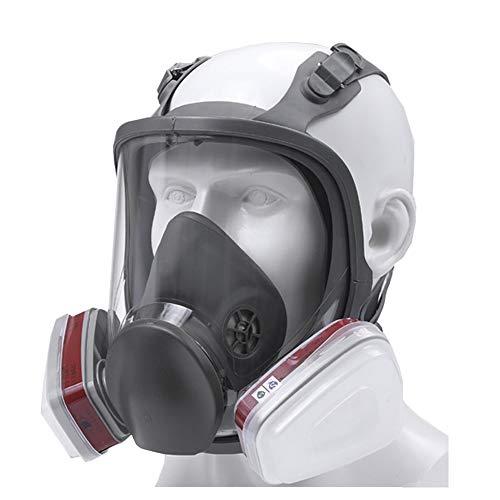 EnweLampi 6800 Umfassend Maske Atemschutzgerät, Double Luft Filter, Augenschutz, Atemschutz, Für Lackieren, Staub, Mechanisches Polieren, Schweißen, Lackieren,C