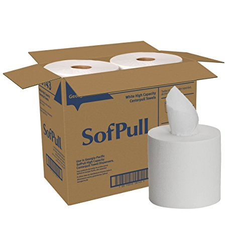 SofPull Centerpull High Capacity Paper Towels by GP PRO (Georgia-Pacific), White, 28143, 567 Sheets Per Roll, 4 Rolls Per Case