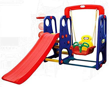 Baby slider and swing with basketball