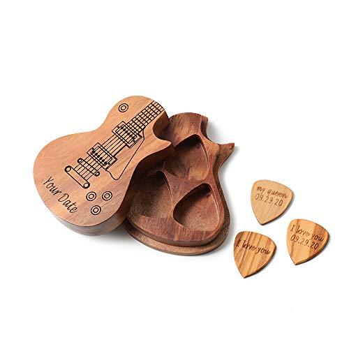Custom Wood Guitar Picks (Any Message)