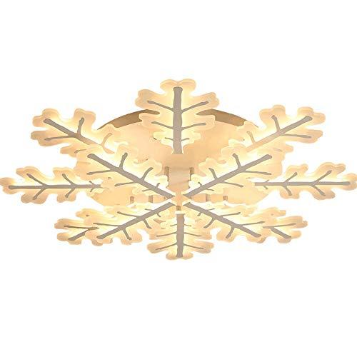 SHENLIJUAN Techo calienta la lámpara Blanca de Hierro Amarillo Claro acrílico lámpara del Dormitorio Comedor de Niños de Estar Estudio Moderna Simple (Color : Warm Light)