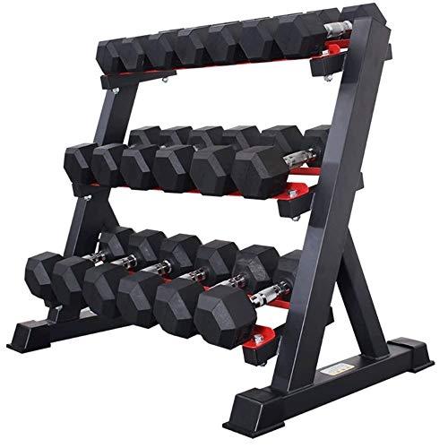 Soporte para mancuernas Mancuerna en rack, rack de fitness Inicio Dumbbell Set Colocación hexagonal con…