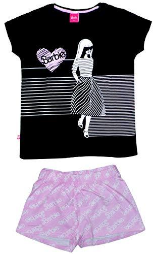 Barbie Womens Girls Short Pyjama Set Baumwolle (X-Large)