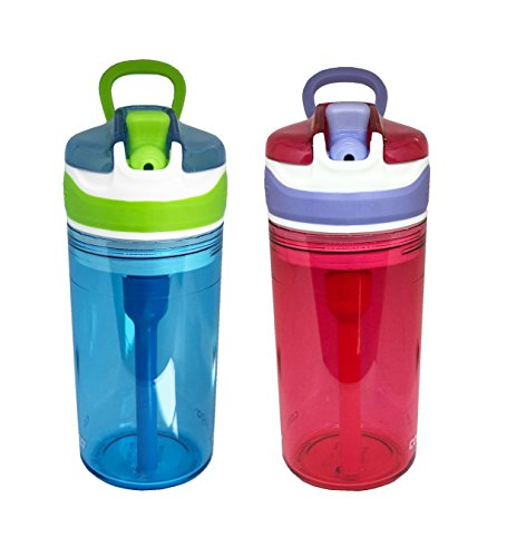 Contigo Kids 2 and 1 Snack Hero Kids Tumbler and Snack Cup- 13 oz - 2 pack - (Blue-Red)