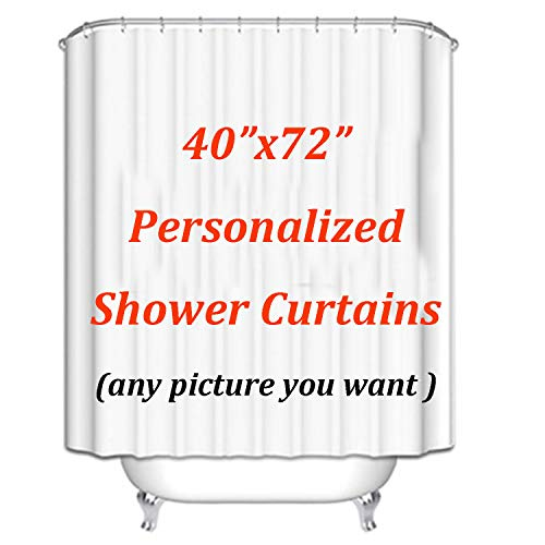 Yoopa Custom Shower Curtains with Your Unique Designs Personalized Decorative Bathroom Curtains Modern Water Repellent Fabric Bath Spa Curtains