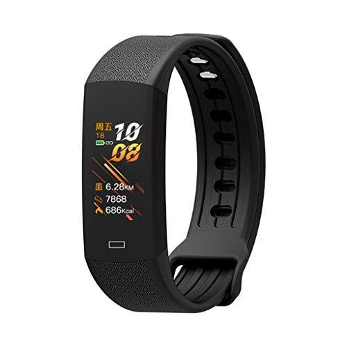 WE-KELLOKITY Reloj inteligente B6W, IP67, resistente al agua, con monitor de sueño, presión arterial y frecuencia cardíaca, banda inteligente para iPhone y Android