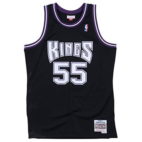 Mitchell & Ness Maglia NBA swingman nera, Jason Williams #55 Sacramento Kings 2000-01, Uomo, MN-NBA-353J323FGYC3N, M